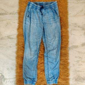 H&M Blue Denim Joggers, Size 38